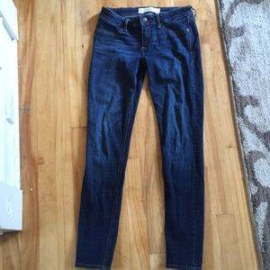 Dark/medium wash skinny jeans